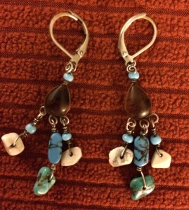 The earrings I wear the most--turquoise & amber from the Yucatan.