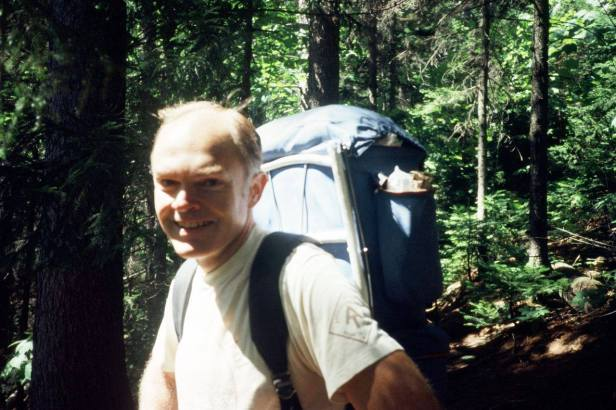 My Dad, Dave Richie, hiking the Appalachian Trail