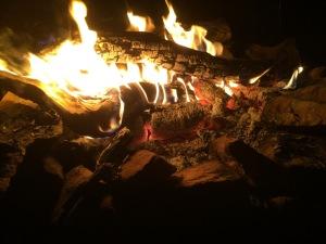 campfire Sept 19 campsite