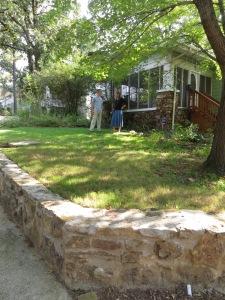 I interview Dan Scheiman of Audubon Arkansas at his   home replete with native plants for birds (in Little Rock Arkansas, photo by Sandra Murphy)