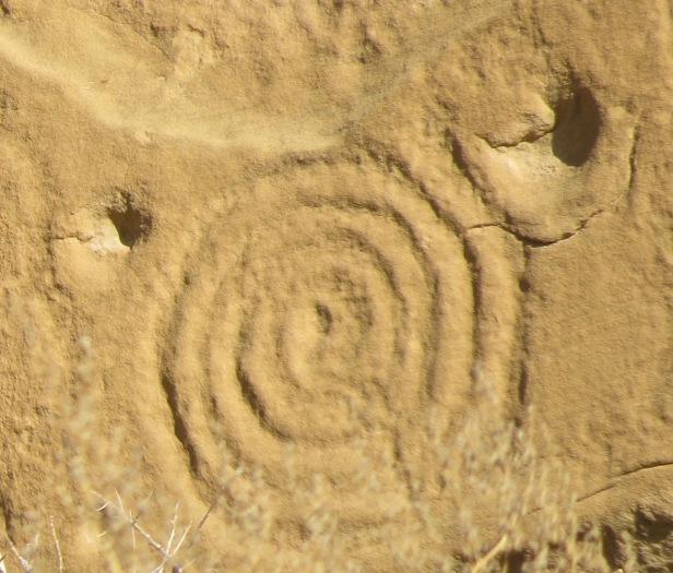 Spiral Petroglyph- Chaco