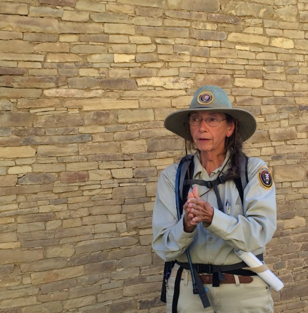 Our Pueblo Bonito tour guide is a storyteller.