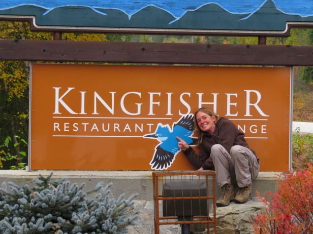 Halcyon Hot Springs-Marina & kingfisher sign