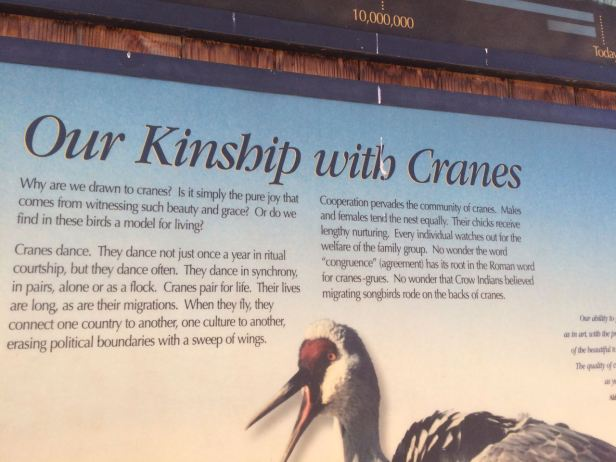 crane interpretive sign