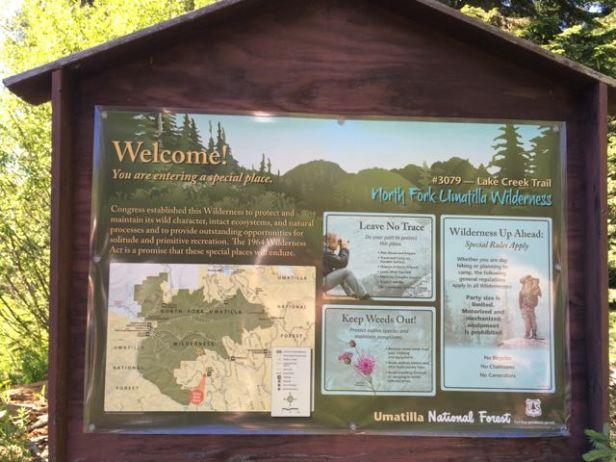trailhead Umatilla Rim/Lake Creek Trail